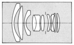 Tamron Adaptall 2 24mm f2.5 Optical Layout